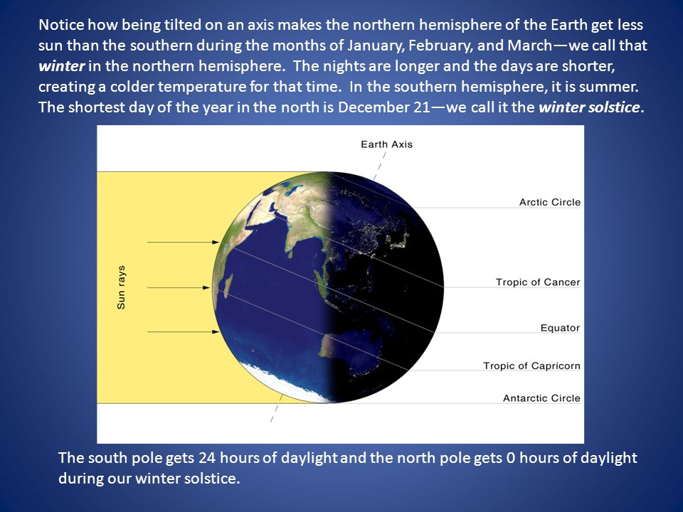 There are two days in the year when the day and night are exactly equal in both the northern and southern hemisphere.