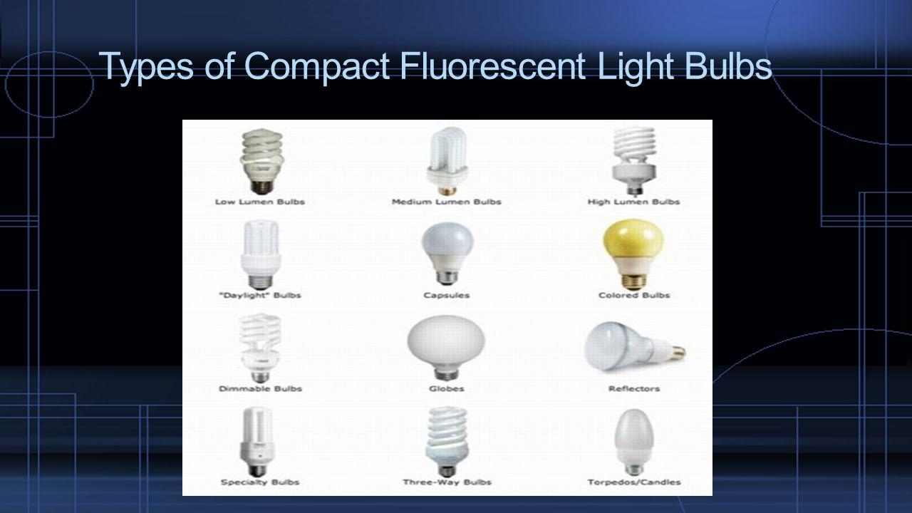 Types of Compact Fluorescent Light Bulbs