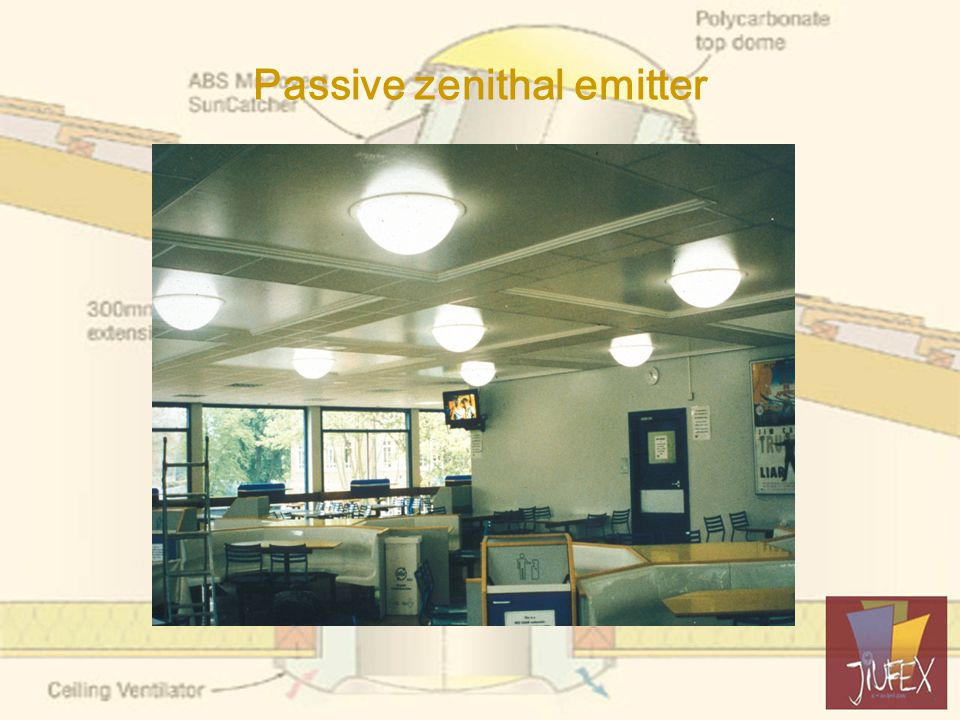 Passive zenithal emitter (2) Fits 600mm ceiling module