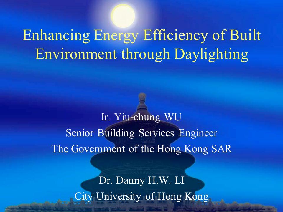Enhancing Energy Efficiency of Built Environment through Daylighting Ir.