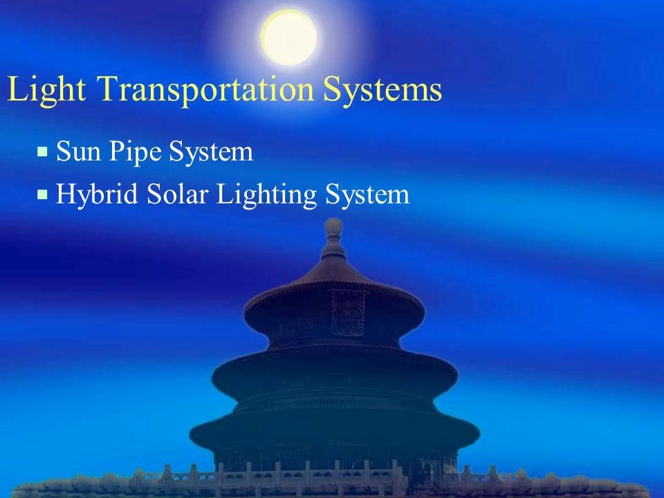 Light Transportation Systems  Sun Pipe System  Hybrid Solar Lighting System