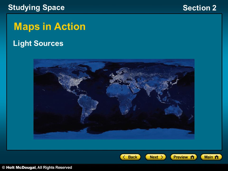 Studying Space Section 2 Maps in Action Light Sources