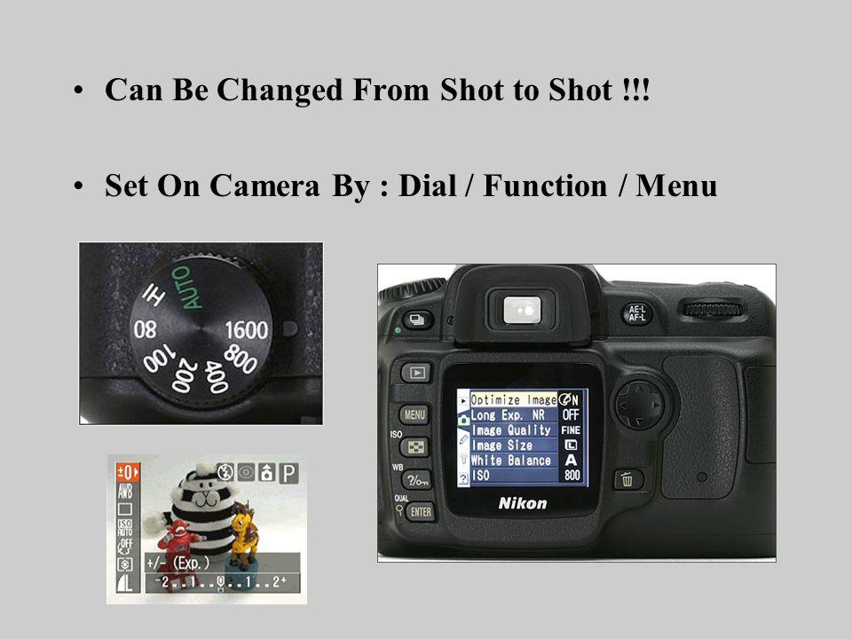 White Balance Sensors/Cameras sensitivity to the color of light.