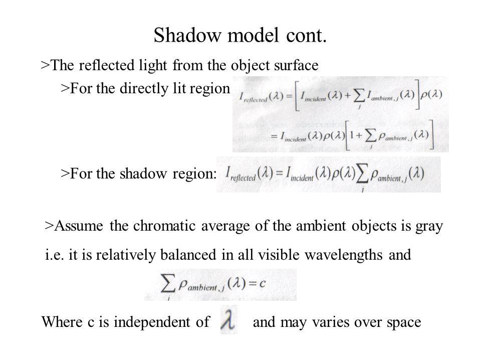 Shadow model cont.