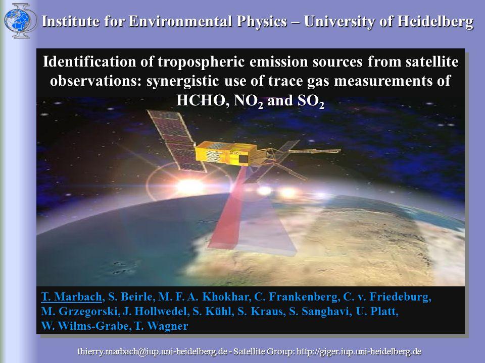 Institute for Environmental Physics – University of Heidelberg T.