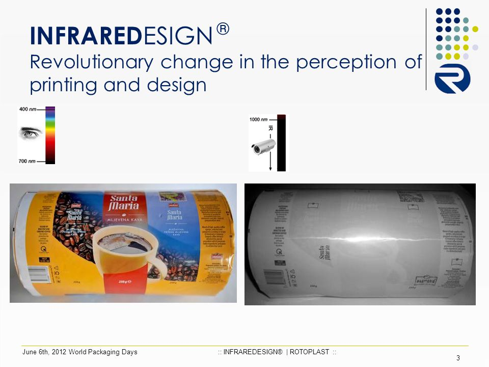 INFRARED ESIGN ® Revolutionary change in the perception of printing and design 3 June 6th, 2012 World Packaging Days:: INFRAREDESIGN® | ROTOPLAST ::