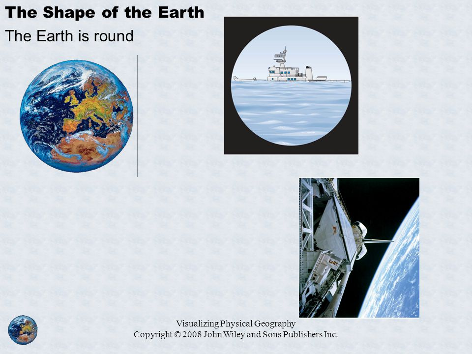 The Shape of the Earth The Earth is round