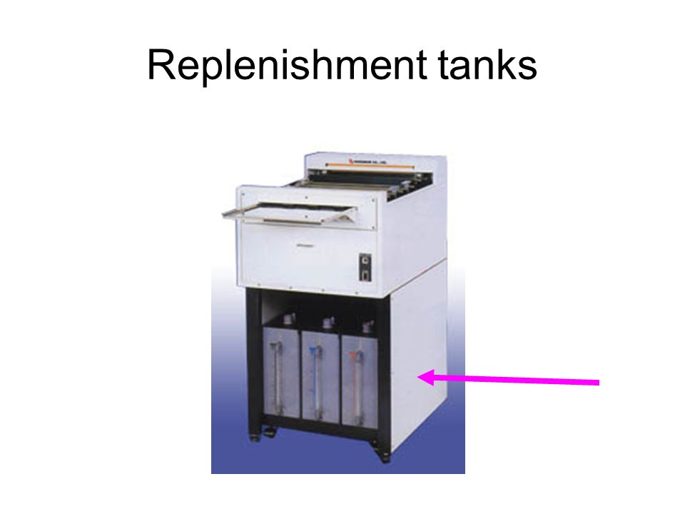 Replenishment tanks
