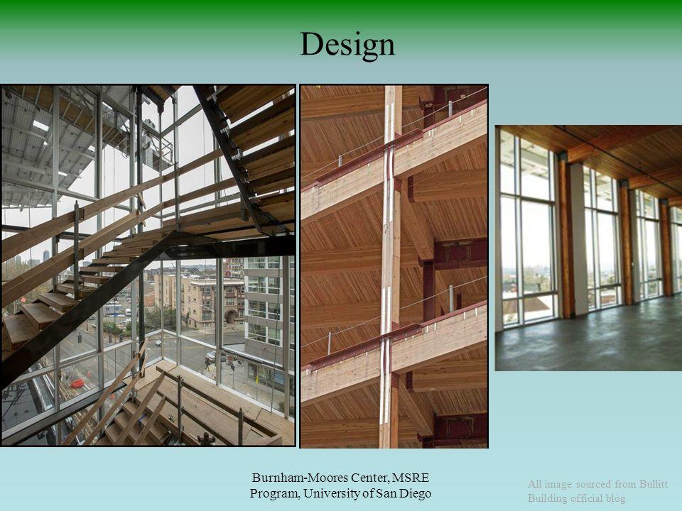 Design Burnham-Moores Center, MSRE Program, University of San Diego All image sourced from Bullitt Building official blog