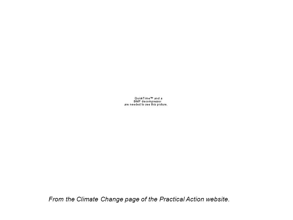 From the Climate Change page of the Practical Action website.