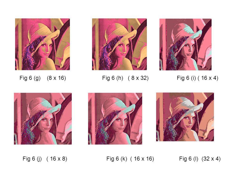 Fig 6 (g) (8 x 16) Fig 6 (h) ( 8 x 32) Fig 6 (i) ( 16 x 4) Fig 6 (j) ( 16 x 8) Fig 6 (k) ( 16 x 16) Fig 6 (l) (32 x 4)