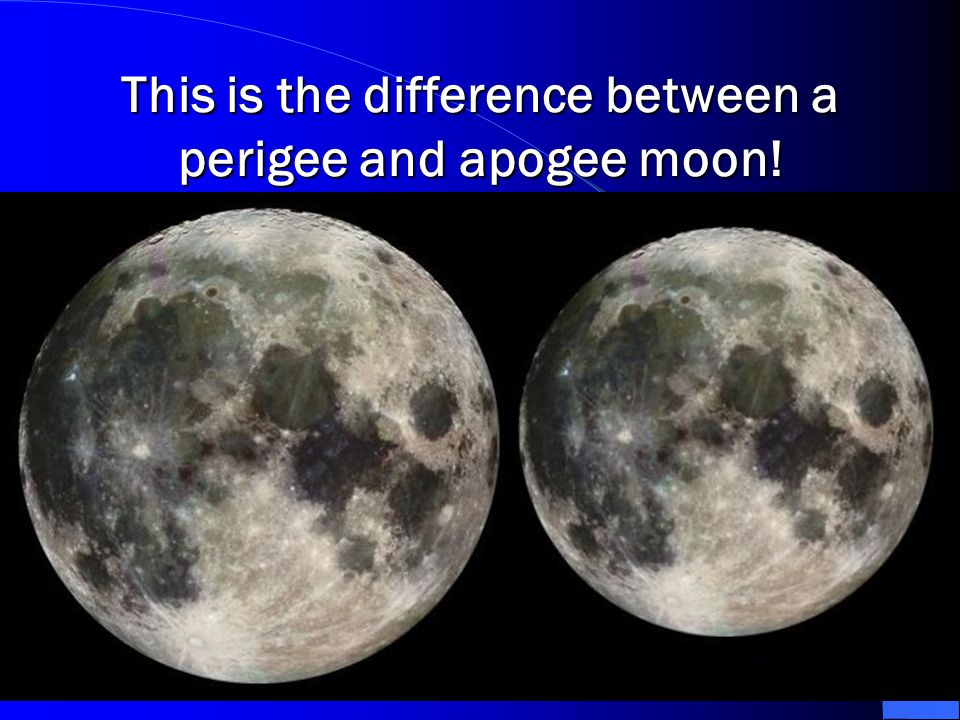 This is the difference between a perigee and apogee moon!