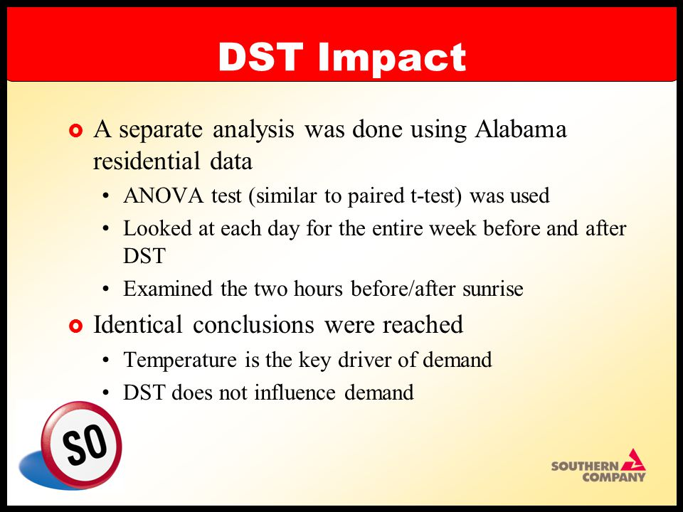 DST Impact  Conclusions When temperatures are somewhat similar, there is no significant difference in usage Temperature has an impact on demand DST does not affect demand