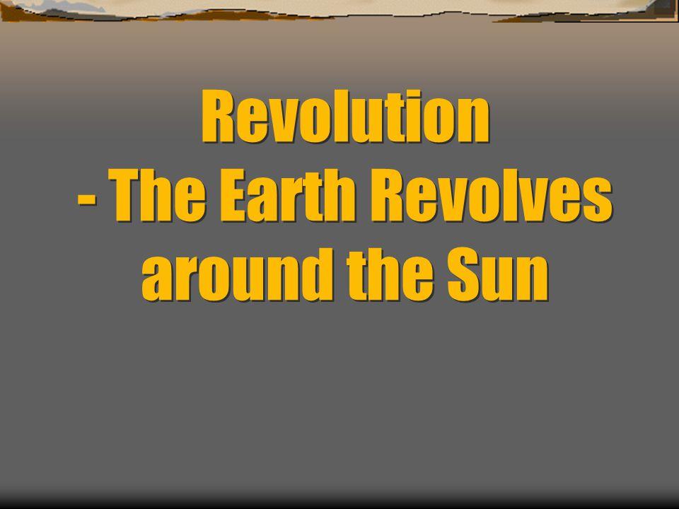 Revolution - The Earth Revolves around the Sun