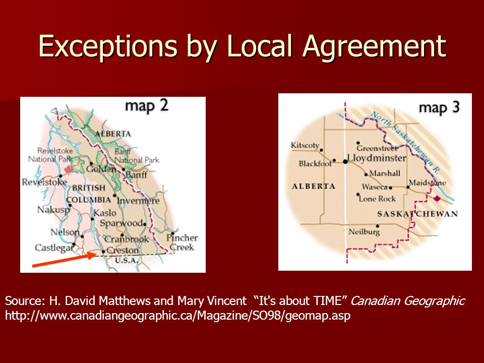 Exceptions by Local Agreement Source: H.