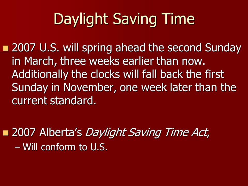 Daylight Saving Time 2007 U.S.