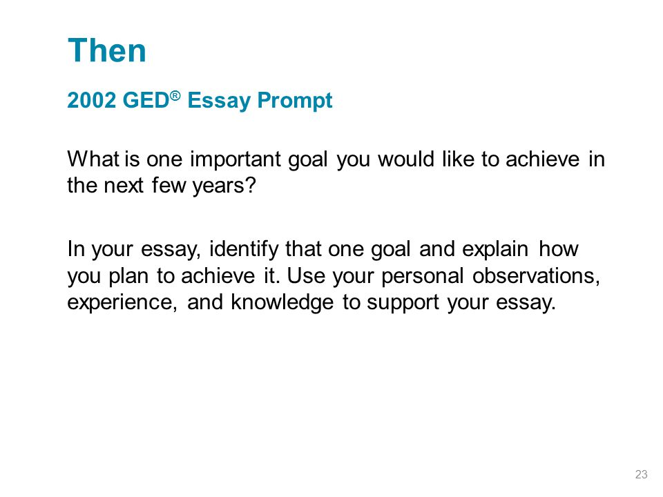 how do you write a ged essay
