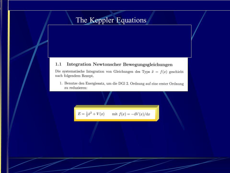 FUNKTIONSTHEORIE UND PHYSIK 1. EINLEITUNG: PHYSIKALISCHE MOTIVATION The Keppler Equations