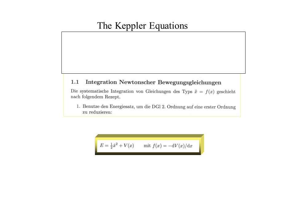The Keppler Equations