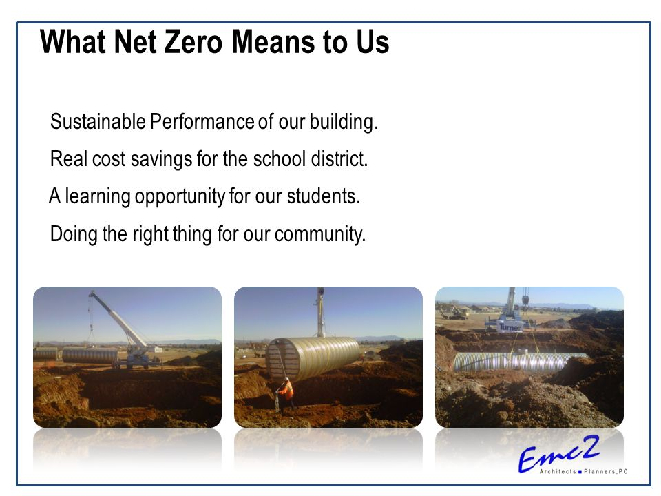 What Net Zero Means to Us Sustainable Performance of our building.