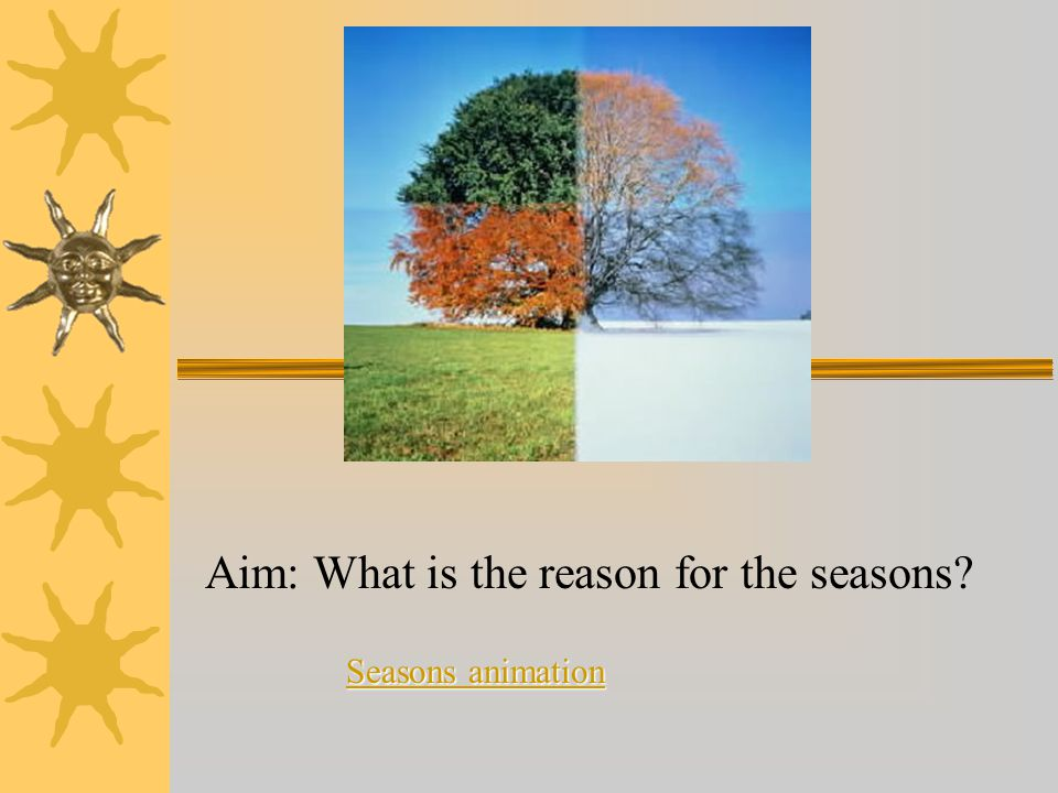 Aim: What is the reason for the seasons? Seasons animation Seasons animation