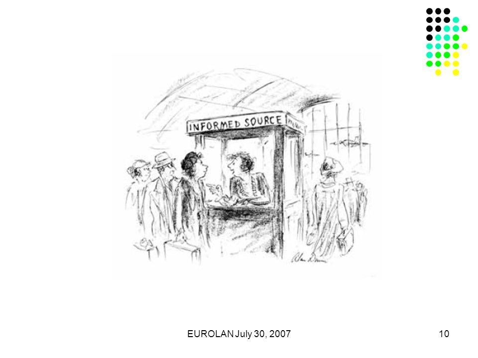 EUROLAN July 30, 200710