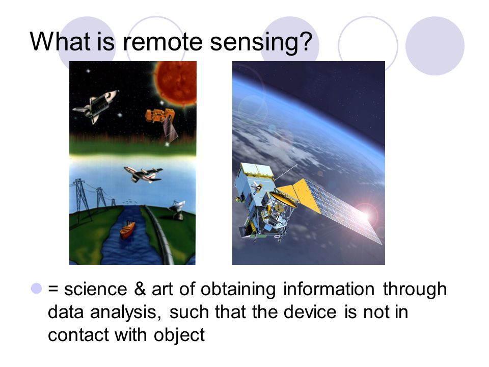 Electromagnetic spectrum divided into different spectral bands (visible light, NIR, microwave) every object reflects or emits radiation = signature signatures recorded by remote-sensing devices use of different parts of spectrum  visible  infrared  microwave NASA: Echo the bat