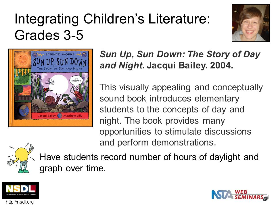 Integrating Children's Literature: Grades 3-5 Sun Up, Sun Down: The Story of Day and Night.