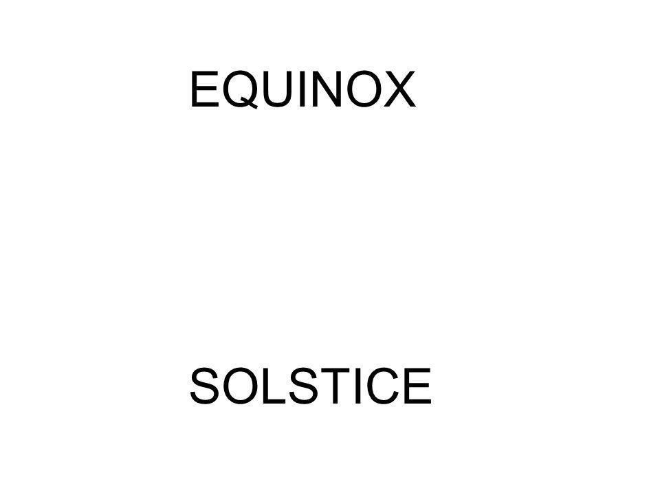 EQUINOX SOLSTICE