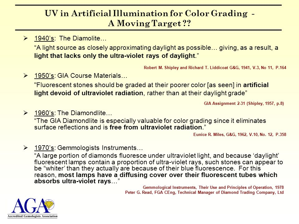 UV in Artificial Illumination for Color Grading - A Moving Target ?.