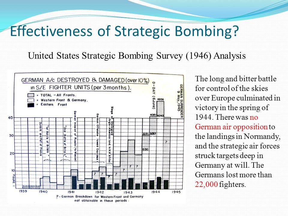 Effectiveness of Strategic Bombing.