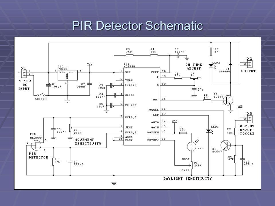 PIR Detector Schematic