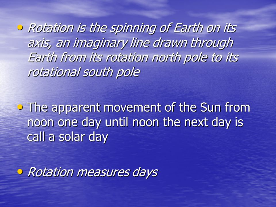 The Sun reaches an equinox when it is directly above the Earth's equator, and the number of daylight hours equals the number of nighttime hours all over the world The solstice is the point at which the Sun reaches its greatest distance north or south of the equator, the Tropic of Cancer and Tropic of Capricorn, respectively