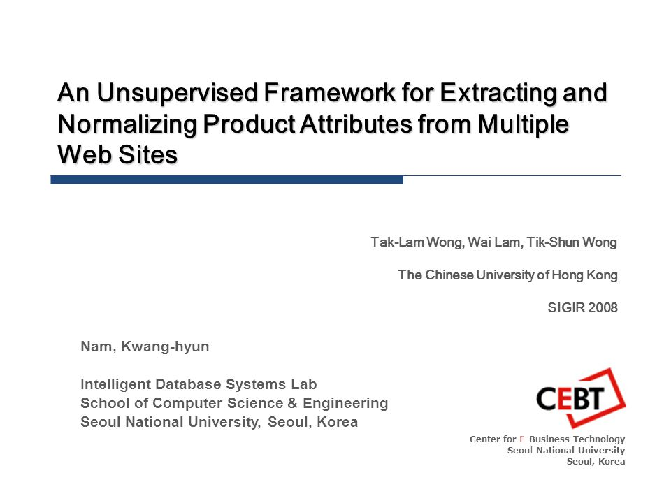 Copyright  2009 by CEBT Model IDS Lab Seminar - 12 Dirichlet Process Prior (Infinite Mixture Model) N Text Fragments S Different Web Pages k-th component proportion Content info.