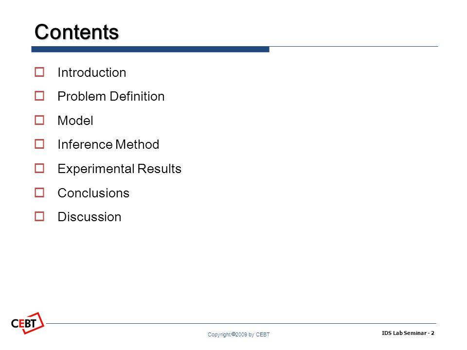 Copyright  2009 by CEBT Generation Process IDS Lab Seminar - 13