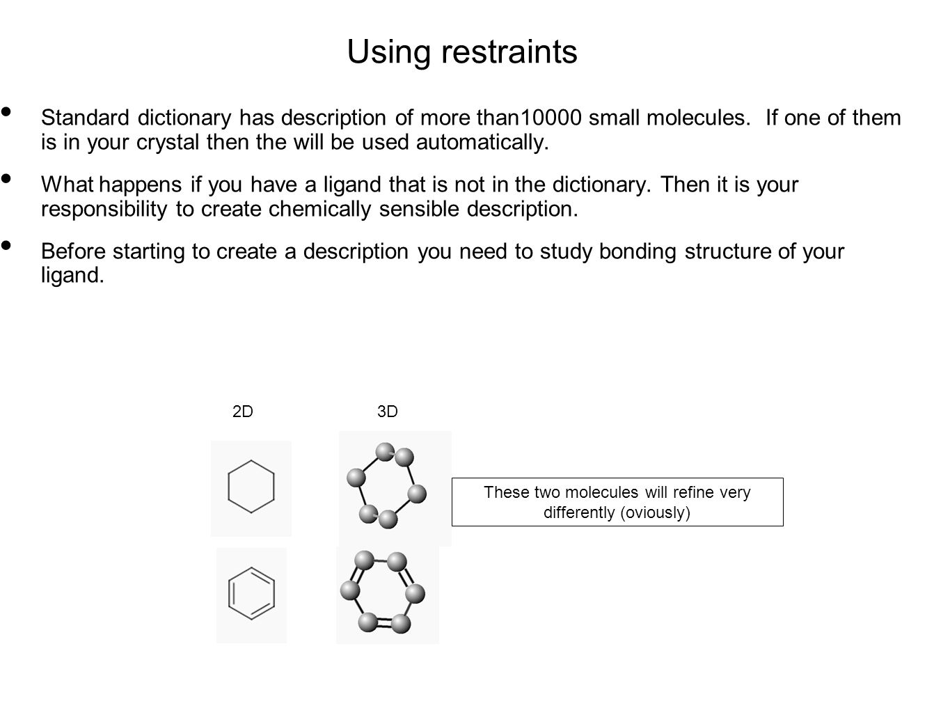 Using restraints Standard dictionary has description of more than10000 small molecules. If one of them is in your crystal then the will be used automa