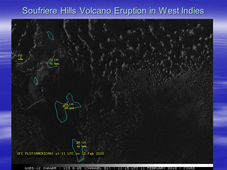 Soufriere Hills Volcano Eruption in West Indies