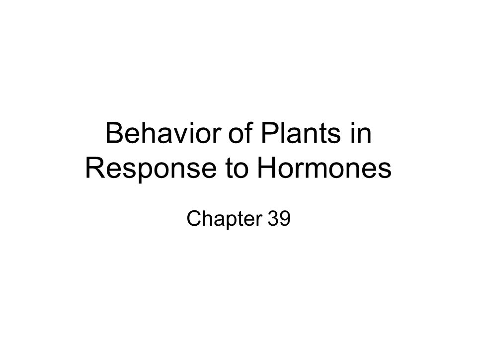 Plants Respond to Hormones Hormone = chemical signals that coordinates the structure and function of an organism 1)Produced in one structure/area 2)Transported to a target area/structure 3)Binds to a protein receptor at target site 4)Triggers a signal transduction response at target cells/tissues