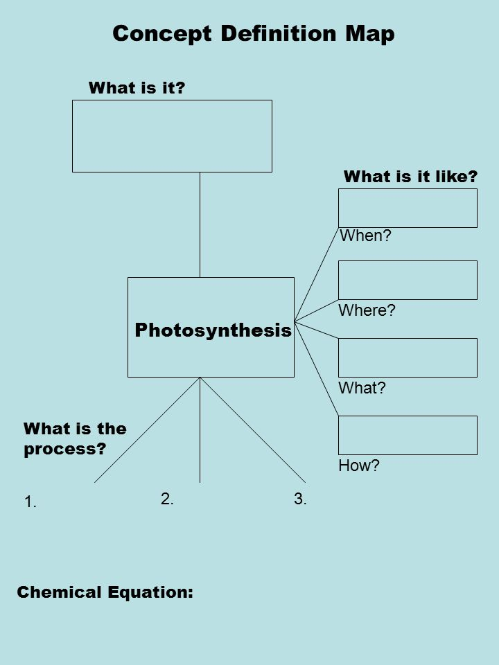 Concept Definition Map What is it.What is it like.