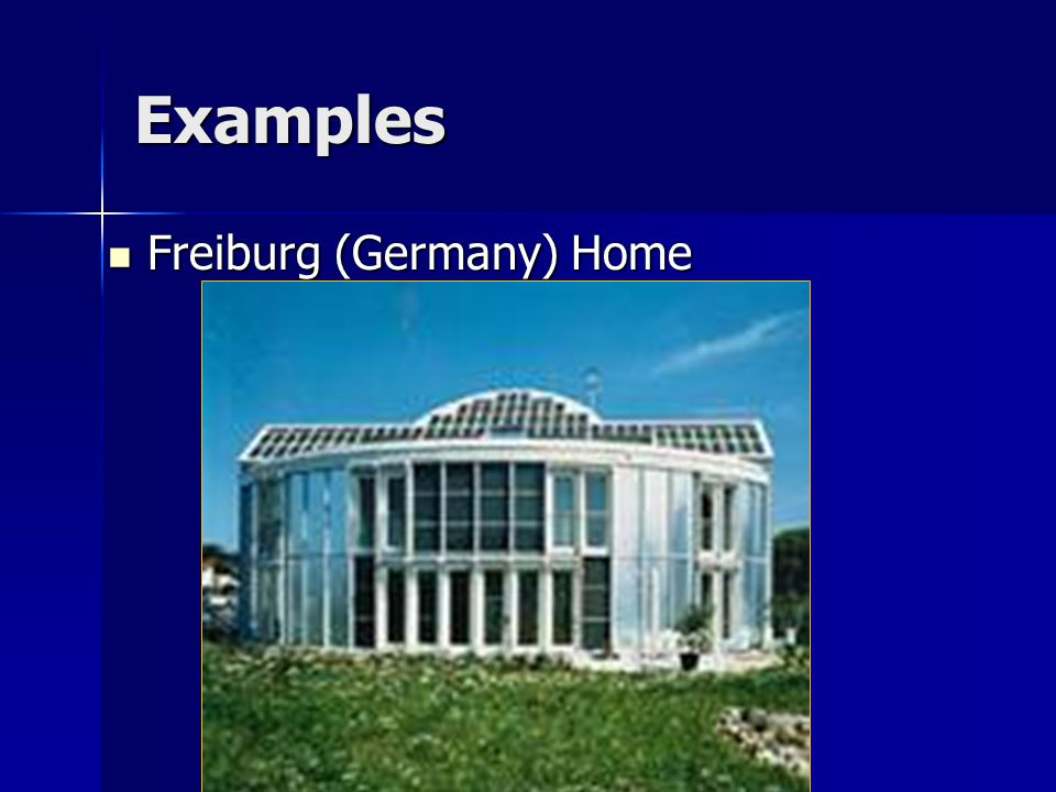 Examples Freiburg (Germany) Home Freiburg (Germany) Home