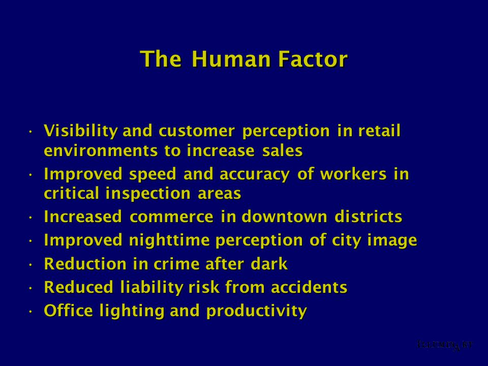 The Human Factor Visibility and customer perception in retail environments to increase salesVisibility and customer perception in retail environments