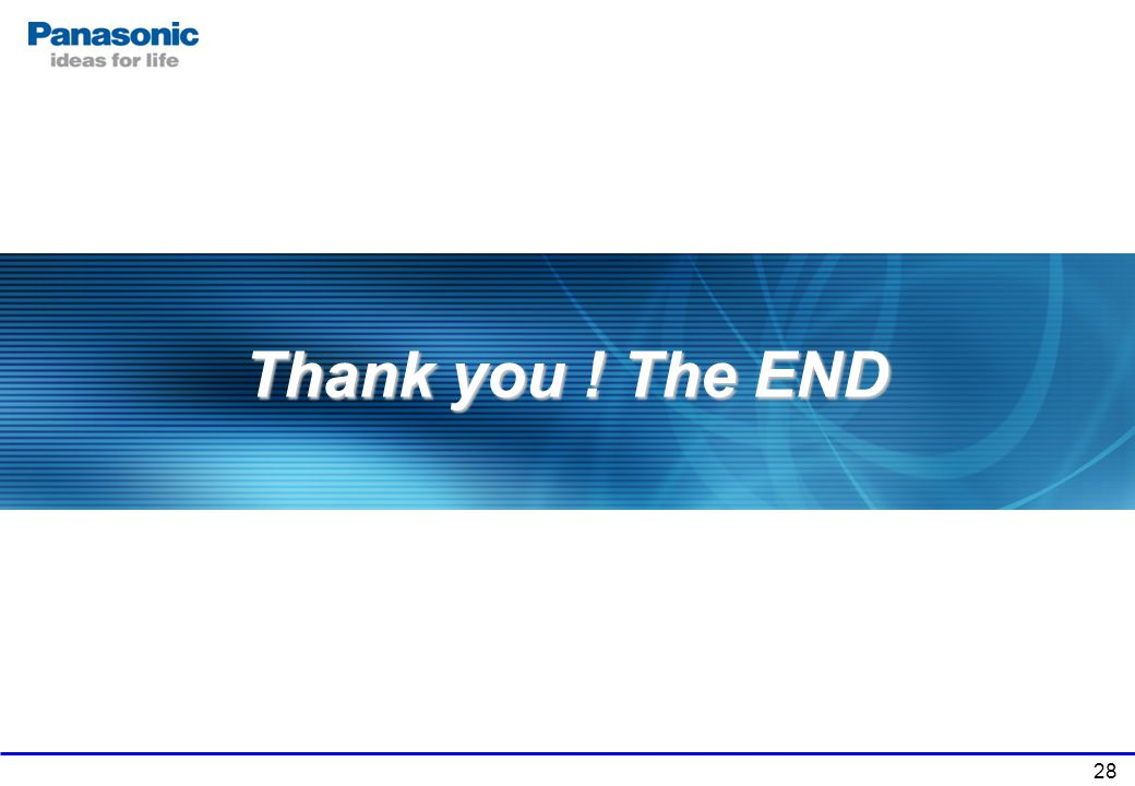 28 Thank you ! The END