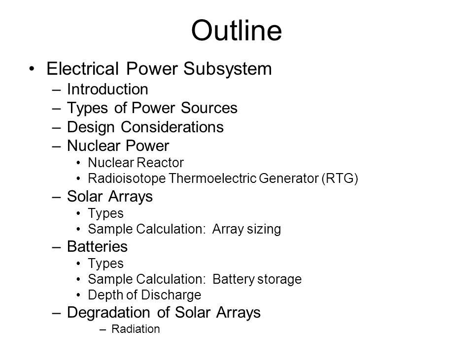 Solar Array Design