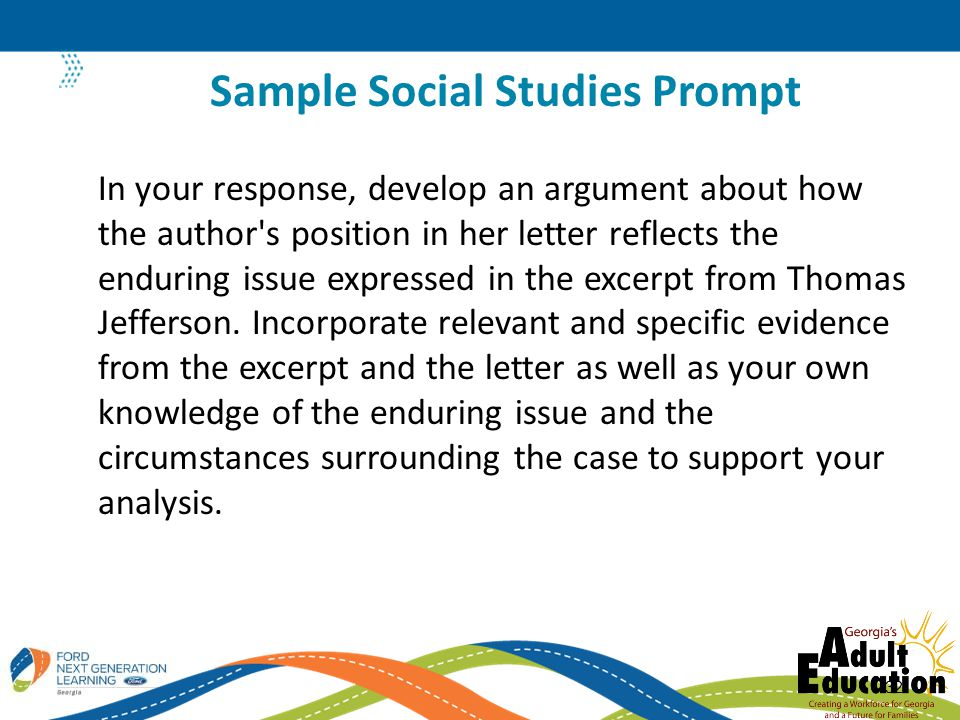 In your response, develop an argument about how the author s position in her letter reflects the enduring issue expressed in the excerpt from Thomas Jefferson.