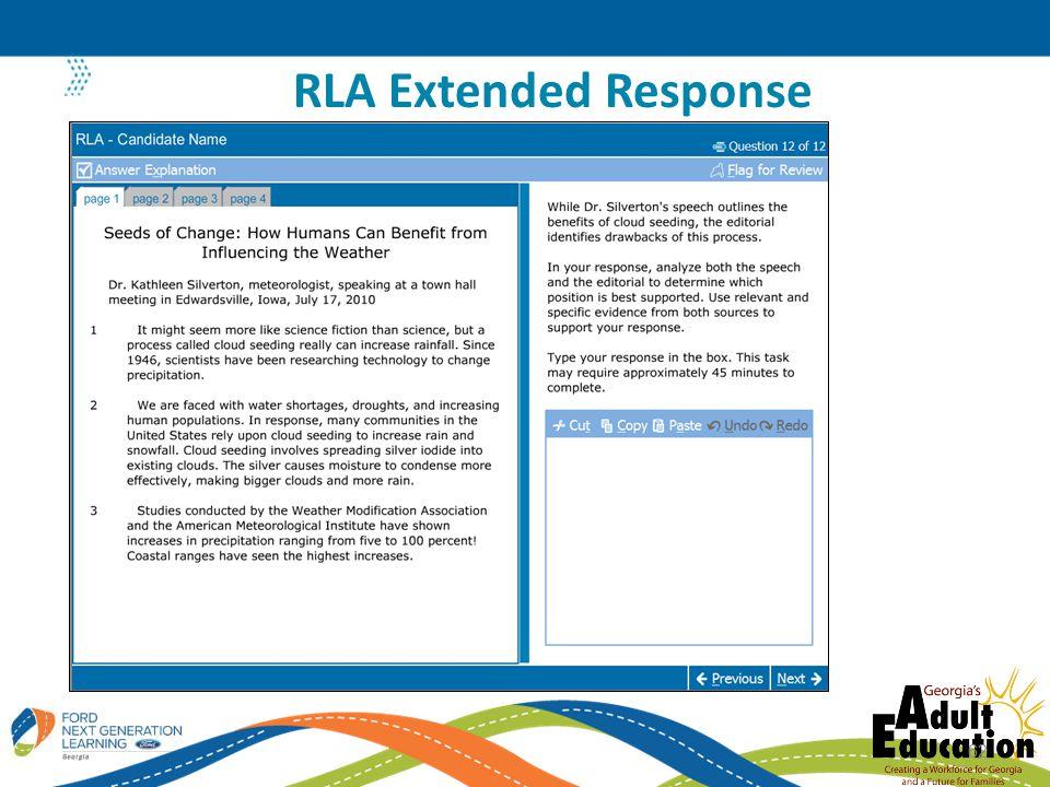 RLA Extended Response 62