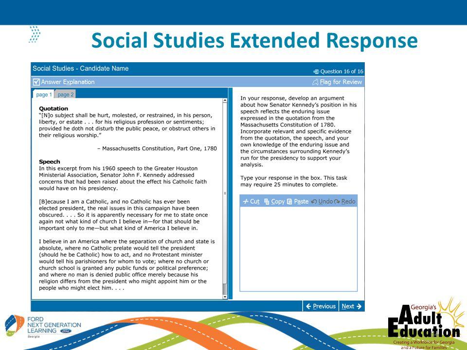 Social Studies Extended Response 64