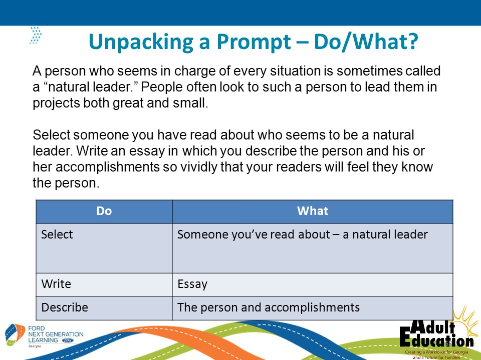Unpacking a Prompt – Do/What.