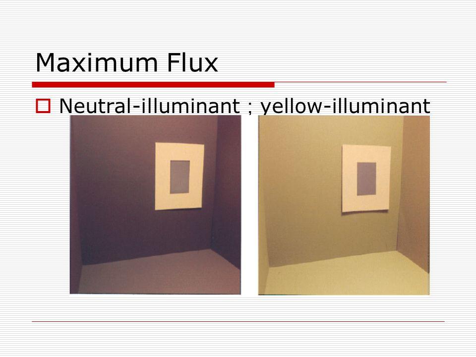 Maximum Flux  Neutral-illuminant ; yellow-illuminant