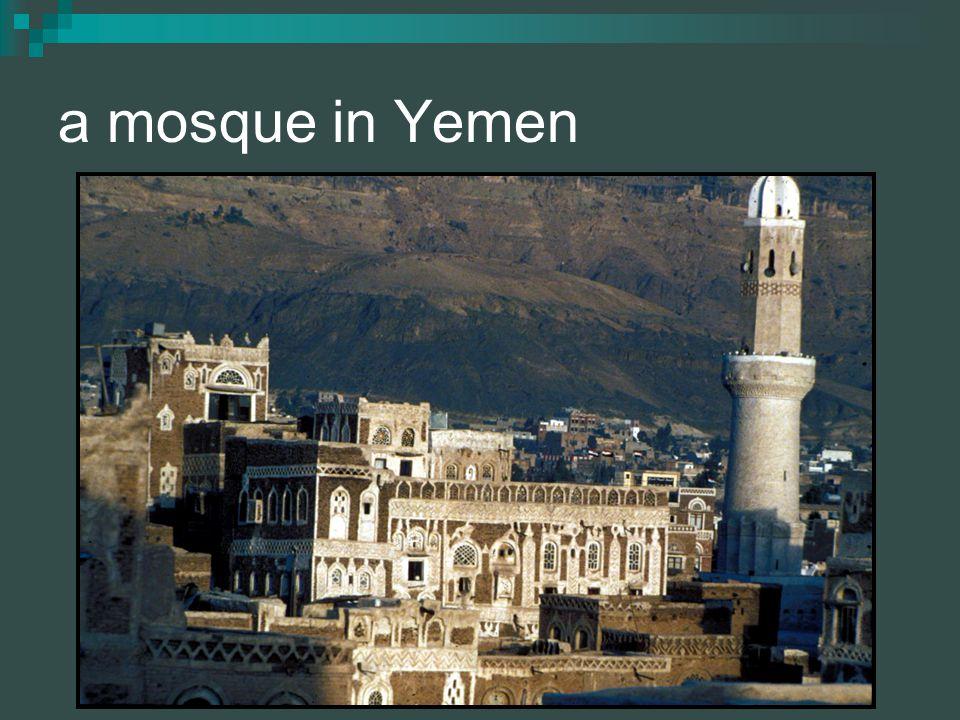 a mosque in Yemen