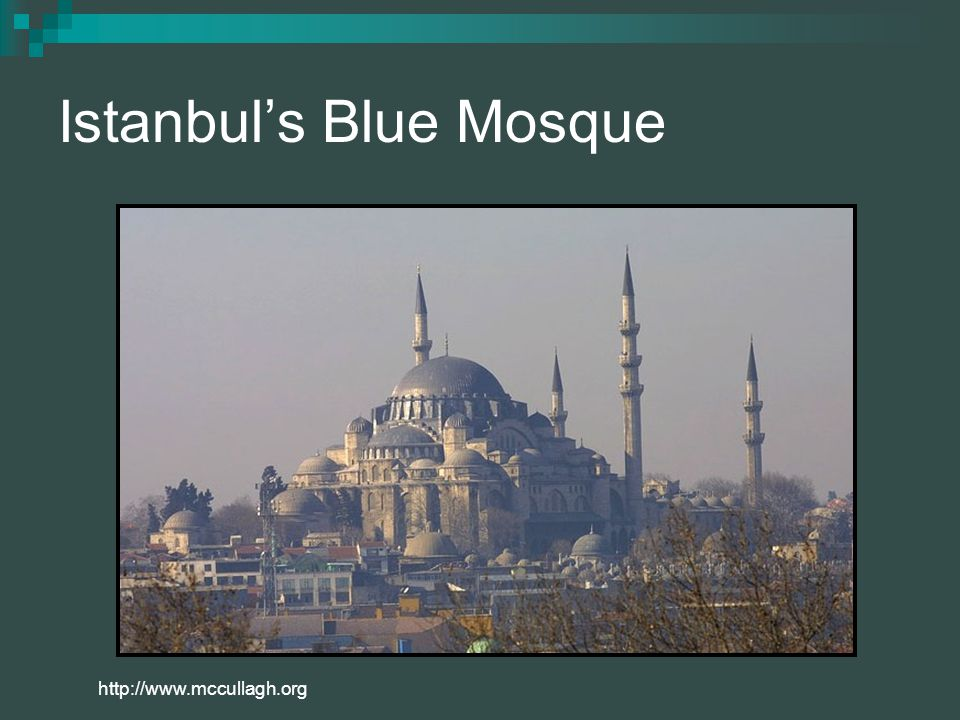Istanbul's Blue Mosque http://www.mccullagh.org